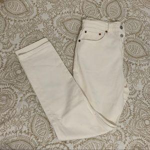 White Levi's 501 Jeans